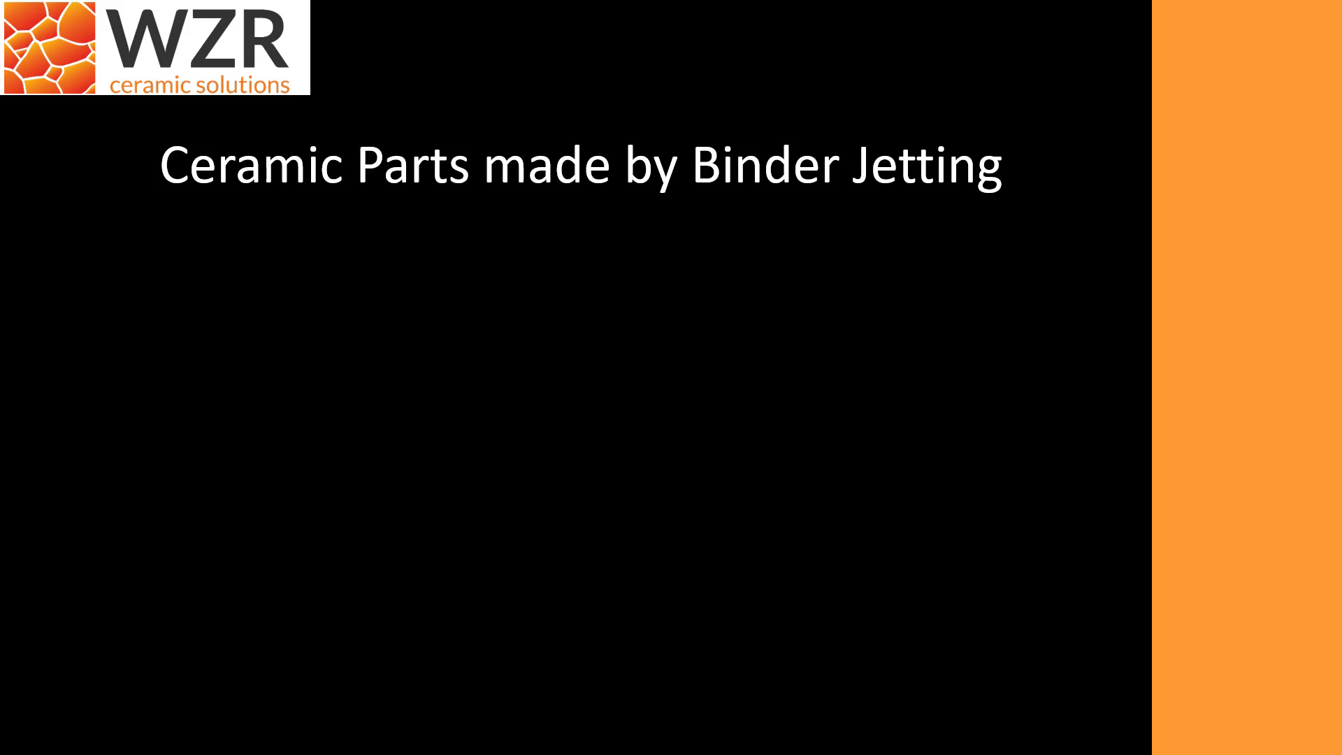 Ceramic Parts made by Binder Jetting