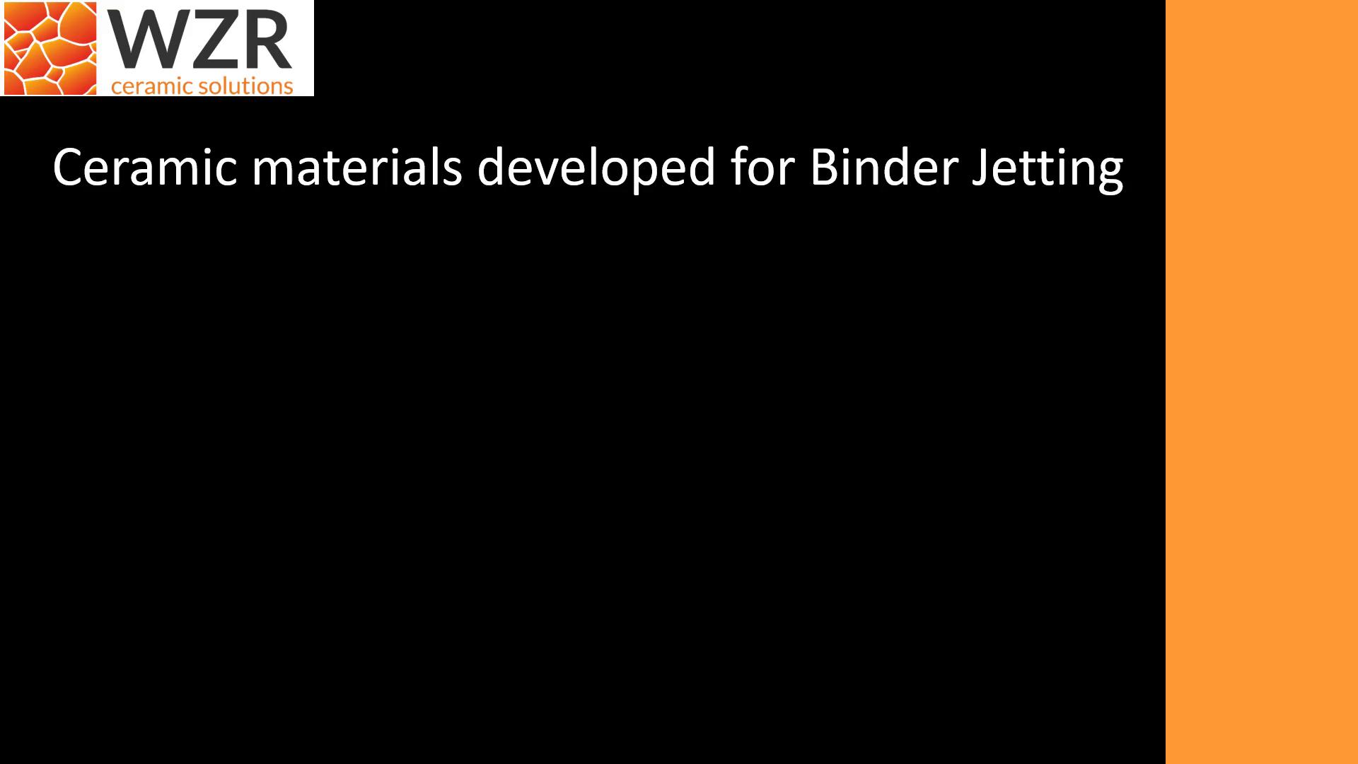 Ceramic materials developed for Binder Jetting