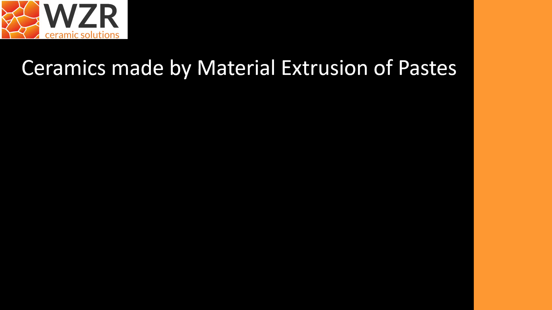 Ceramics made by Material Extrusion of Pastes